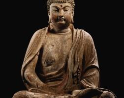 3629. 金 木雕加彩釋迦牟尼佛坐像 |