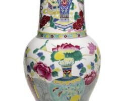 10. a famille-rose yenyen vase qing dynasty, 19th century |