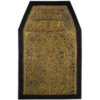 302. a rare maghribi gilt metal thread embroidered curtain or cover, morocco, circa 18th century