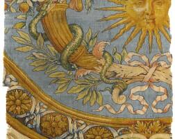 11. a louis xiv savonnerie carpet fragment