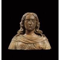 11. buste de femme en bois sculpté france ou flandres, xviie siècle