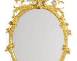 726. a george ii giltwood mirror