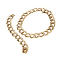9. gold necklace and bracelet, tiffany & co.