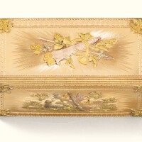 57. a three-coloured gold snuff box, pierre-claude mothe, paris, 1762 |