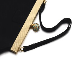 501. lady's turquoise and diamond evening bag, cartier