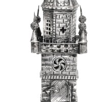 603. a german silver spice tower, j. rimonim (johann jacob rünecke), fürth, circa 1750 |