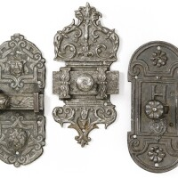 1. french, 16th centurythree wrought iron bolts, |