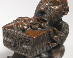 158. maori treasure box, new zealand