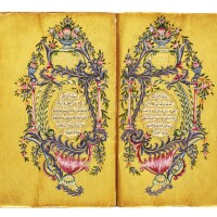 27. an illuminated ottoman qur'an, copied by husayn al-nazif, turkey, ottoman, dated 1277 ah/1860 ad
