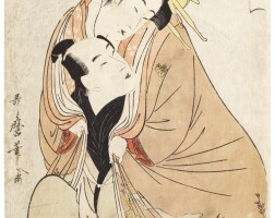 36. kitagawa utamaro i (1750s–1806)emotional turmoil for wankyu and matsuyama (wankyu matsuyama no seiran) edo period, late 18th century |