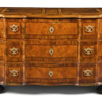46. an austrian or south german gilt-bronze mounted walnut and birchwood inlaid commode, mid18th century  