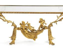 36. a gilt-bronze and glass coffee table, circa 1900  