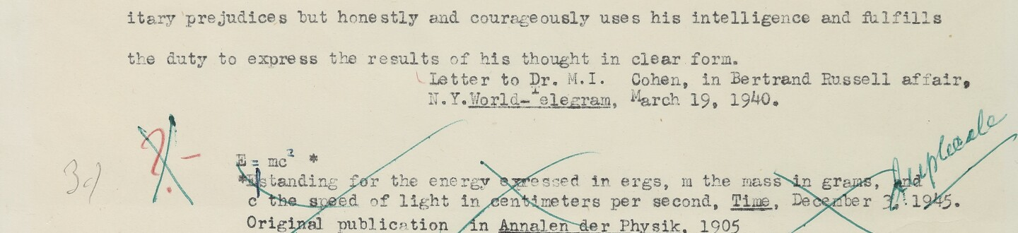 Letter written by Einstein in a sale selling autographed letters