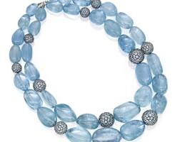 7. two aquamarine necklaces
