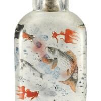 738. an inside-painted glass snuff bottle by ye zhongsan (1875-1945), dated jiayin year (corresponding to 1914)