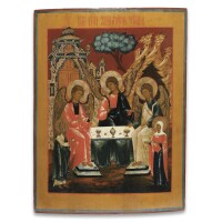 20. a russian icon of the holy trinity, 18th century