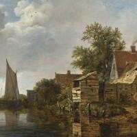 108. cornelis gerritsz decker   a farmhouse beside a canal