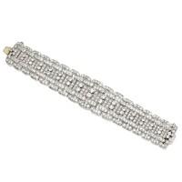 128. platinum and diamond bracelet, circa 1930