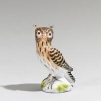 32. a meissen miniature figure of an owl circa 1745