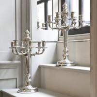 711. a pair of french silver seven-light candelabra, odiot, paris, circa 1880