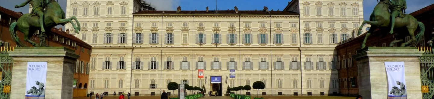 Exterior view of the Royal Palace of Turin.