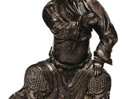 135. statuette de guandi en bronze dynastie ming |