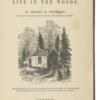 310. thoreau, henry david. walden: or, life in the woods. boston: 1854. first edition