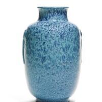 35. a robin's-egg glazed lantern vase qianlong seal mark and period