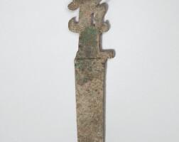 4. dague en bronze, ge fin de la dynastie shang, ca. 1200 avant j.-c.