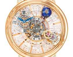 2333. jacob & co.   astronomia 型號at800.40.bd.bd.a 限量版粉紅金鑲鑽石鏤空陀飛輪腕錶,備旋轉錶盤及球體,錶殼編號750.800.及9/18,約2018年製
