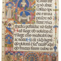 8. beatus leaf from a huge choir psalter, in latin [italy (abruzzo, l'aquila?), 15th century (third quarter, after 1456)]
