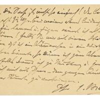 "168. brahms, johannes. autograph letter signed (""j.brahms""), to the pianist julius epstein"