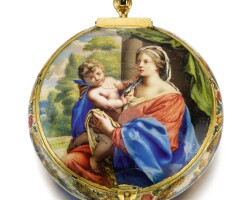 8. bonbruict, à blois | an exceptional gold and enamel verge watchdepicting scenes from the life of themadonna the enamel painting attributed to robert vauquercirca 1660