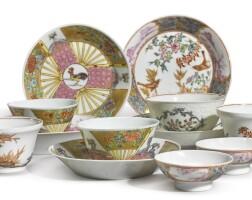 1058. 清十八世紀 粉彩茶具一組  