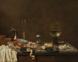 33. 楊·嚴斯·凡·德·費爾德 | 《靜物:牡蠣與抽煙用具》
