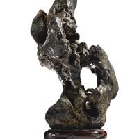 3018. a grey scholar's rock ming – qing dynasty  