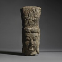 7. a rare limestone relief fragmentary head of a bodhisattva northern wei dynasty |