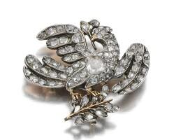 9. diamond brooch, late 18th century