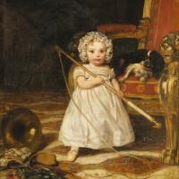 163. joseph-nicolas robert-fleury1797-1890 | young child with a dog
