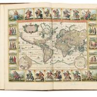 136. visscher. altas minor... amsterdam [vers 1685]. 2 vol. in-folio. veau fauve de l'époque. 226 cartes coloriées.