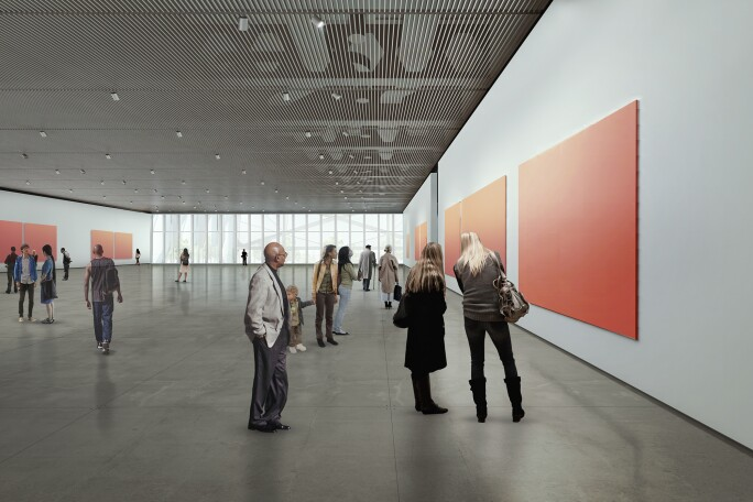 Shed Gallery Rendering, Diller Scofidio + Renfro