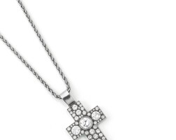 44. diamond pendent necklace