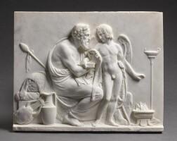 26. 巴特爾·托瓦爾森(1768-1844年)意大利,羅馬,1823-1824年 | 《阿那克里翁迎接丘比特浮雕》