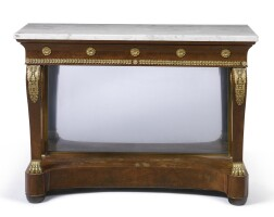 37. an empire ormolu-mounted mahogany console,circa 1815