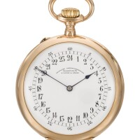 26. a. lange & söhne, deutsche uhrenfabrikation, glashütte | a pink gold open-faced keyless lever watch with 24-hour dial, original box and spare 24-hour dial circa 1904 no. 56035