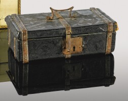 6. an embossed leather and steel casket, 16th century |