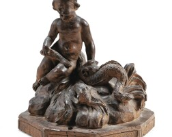 34. franco-flemish, late 17th / early 18th centurymodel for a fountain shaped as a young fisherman |