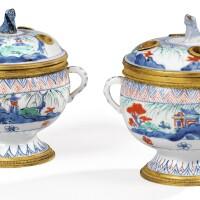 17. a pair ofgilt-bronze mounted japaneseporcelain pots-pourris, the mountsin french régence style  