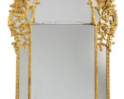39. a carved giltwood mirror, louis xv, circa 1740  