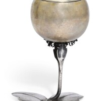 601. a german parcel-gilt silver apple-form cup and cover, marx merzenbach, augsburg, 1666-69 |